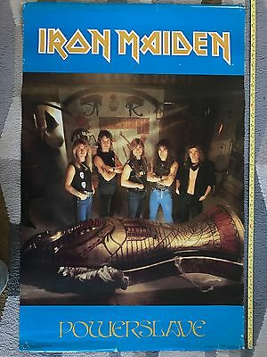 Rare Iron Maiden Powerslave 1984 Vintage Original Music Poster