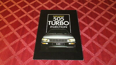 1986 Peugeot 505 Turbo Injection Sales Brochure