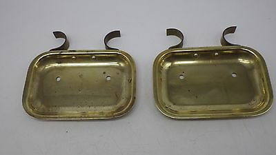 2 Antique Brass Vintage Soap Dish Holder Basket Clawfoot Bathtub