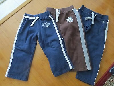 Carter's 4t Brown and Blue Sweatpants for Boy Lot of 3