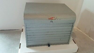 Brumberger Vintage Darkroom Photo Roll Top metal Case Cabinet