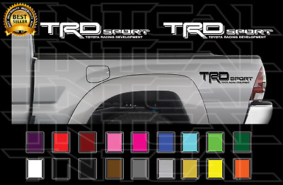 TRD SPORT Decals Toyota Tacoma Racing Truck Bed Vinyl Stickers X2 2006-2011