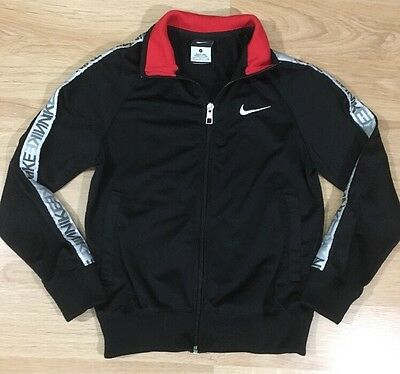 Nike Full Zip Jacket Youth Small Black White And Red