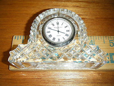 Vintage Glass Waterford Crystal Mantel Clock / Quartz / Made In France