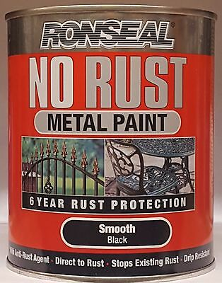 Ronseal No Rust Metal Paint Smooth / Hammered 250ml 750ml 2.5ltr Various Colours