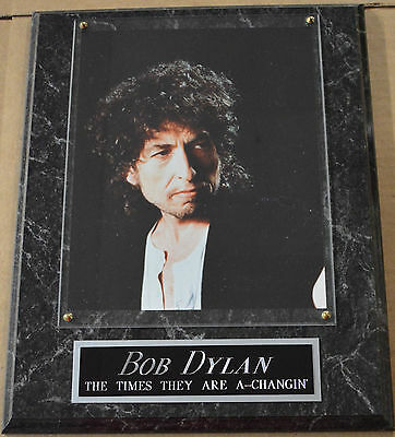 #1 Fan Bob Dylan Framed 8 X 10 Photo-Man Cave Art-12X15 Wall Plaque Display