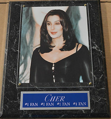#1 Fan Cher Framed 8 X 10 Photo 12 X 15 Wall Plaque Display-Sign-Poster