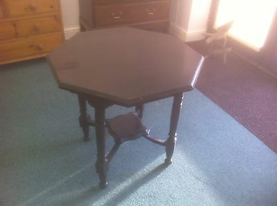 Edwardian Solid Mahogany Octagonal Occasional Table