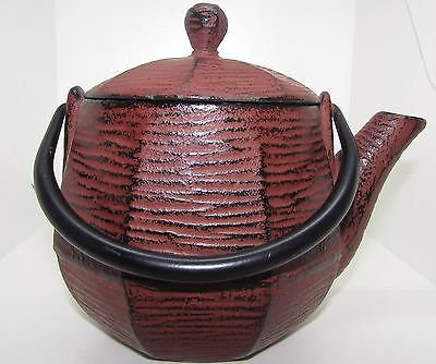 RIKYU CAST IRON TEAPOT TEA KETTLE ANTIQUE OR VINTAGE ESTATE FIND w/ LID & HANDLE