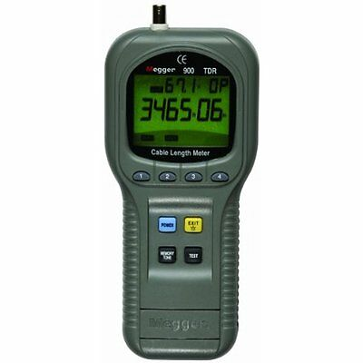 Megger TDR900 Network Cable Testers Hand Held Time Domain Reflectometer and