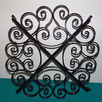 Decorative Black Wrought Iron Rosette for Window, Door, gate, Wall etc.