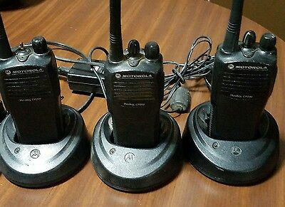 LOT OF 3 MOTOROLA Radius cp200 Two-Way Radios AAH50KDC9AA1AN