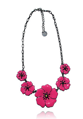 Set poppy pink hollywood necklace earrings lol jewelry