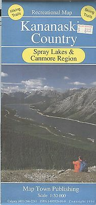 Map Town Recreational: KANANASKIS COUNTY - Spray Lakes and Canmore Region - 1994