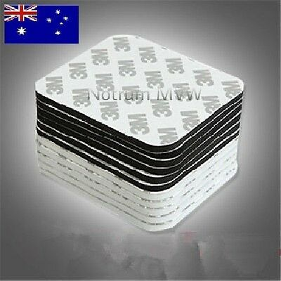 2pc 3M Rectangle Double Sided Mounting Tape Pad Block Random Colour Black-White