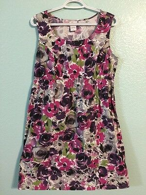 Oh Baby Maternity By Motherhood Large L Floral  Print Dress