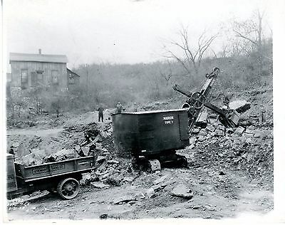 Real Photo Marion Steam Shovel Type 7 working at Stewart Sand