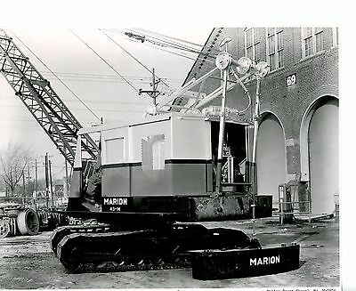 Real Photo Marion Power Shovel 43-M Outside of Plant