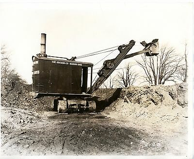 Real Photo Osgood Steam Shovel Marion Ohio at work