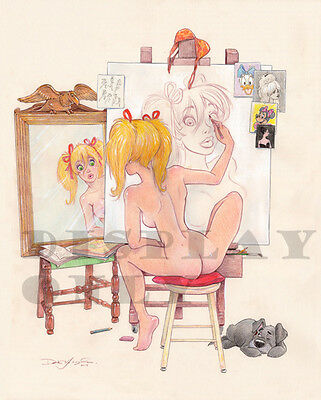 """Dean Yeagle  Signed """"mandy"""" Print - 8 1/2"""" X 11"""" #dy-209"""