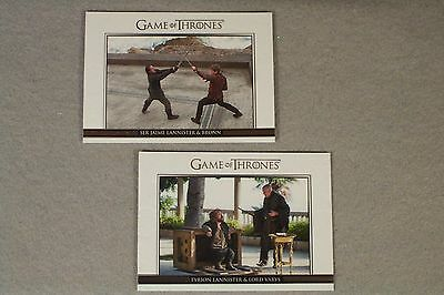 "GAME OF THRONES SEASON FIVE Pair of ""Relationships"" DL21, DL30 Insert cards"