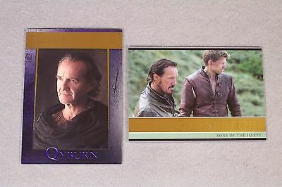 "GAME OF THRONES SEASON FIVE Pair of ""Gold"" Parallel Set Cards #10, #67"