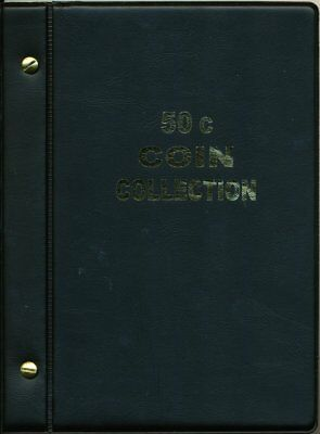 VST Australian 50c Coin Album 1966 to 2018 - Black Cover ***FREE POSTAGE***