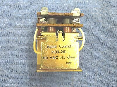 Relay, 115 volts AC coil, 2PNO contacts. 10 amps, Allied Control