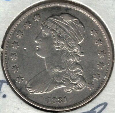 1831 Capped Bust Quarter $.25 Small Letters EF/XF