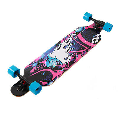 Longboard Komplettboard Skateboard 104cm Mit High Speed Kugellagern Dropped