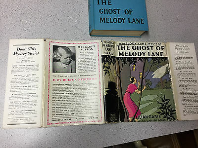 Vintage The Ghost Of Melody Lane Book Hardcover Lilian Garis 1933 Dustjacket