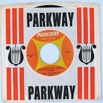 Rock 45 THE DOVELLS Letters of Love b/w Bristol Stomp  PARKWAY VG++