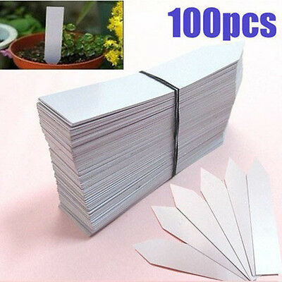 100pcs Plastic Plug-in Plant LABELS MARKER - price tags ID tags garden, business