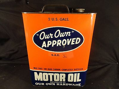 Vintage 2 Gallon Our Own Oil Can Gas