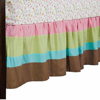 Living Textiles Baby Doll Cot Bed Skirt - Fits Boori