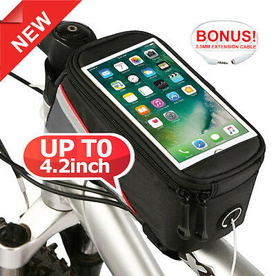 Cycling Bike Bicycle Frame Pannier Front Tube Pouch Bag Mobile Phone Holder AU