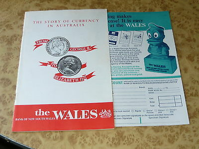The Wales 1960's Currency in Australia Booklet ~ Vintage Bank of New South Wales