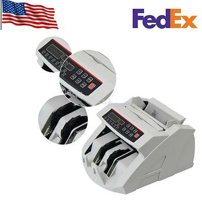 Money Bill Currency Counter Counting Machine Counterfeit Detector SALE