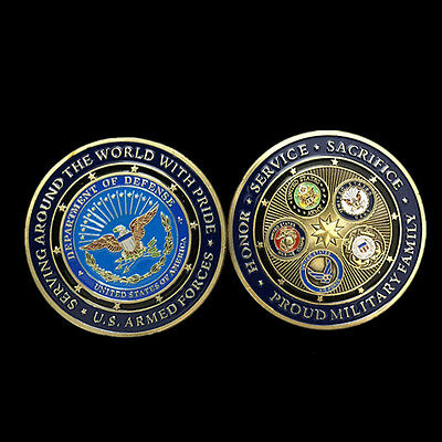 USA Five Army Badge Commemorative Coins