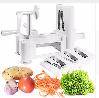 Felji Tri-Blade Plastic Spiral Vegetable Slicer Spiralizer Cutter