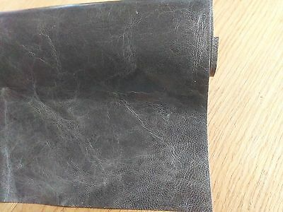 20 x 30 CMs Grey-Black Soft kid goatskin Leather thickness 0,9mm  No.L47
