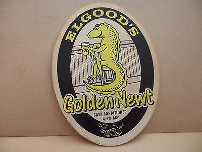 Elgoods Golden Newt Ale Beer Pump Clip Pub Bar Collectible 12