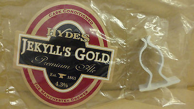 Hydes Jekylls Gold Premium Ale Beer Pump Clip Pub Collectible NEW with Clip