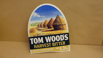 Tom Woods Harvest Bitter Ale Beer Pump Clip face Bar Collectible 21