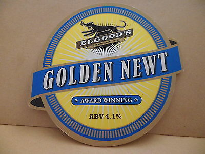 Elgoods Golden Newt Ale Beer Pump Clip Pub Bar Collectible 8 RARE