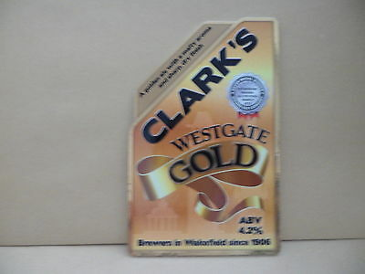 Clarkes Westagate Gold Ale Beer Pump Clip face Bar Collectible 57