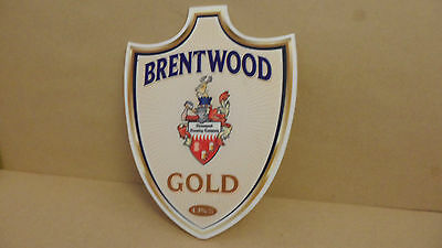 Brentwood Gold Ale Beer Pump Clip face Bar Pub Collectible 13