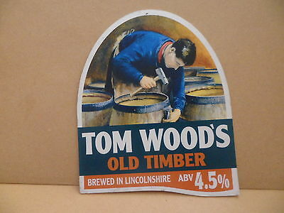 Tom Woods Old Timber Ale Beer Pump Clip Pub Bar Collectible 57