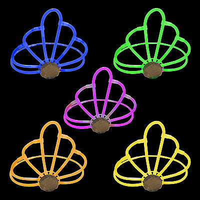 5x Glow in the Dark Crowns / Tiaras - Glow Stick Bright Neon Fancy Dress Party