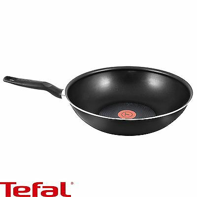 Tefal Extra Stirfry Pan - 28cm Aluminium PowerGlide Non-Stick ThermoSpot - Black